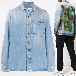 19FW 스프레이 데님 셔츠 블루 OMYD015E19386037 7188