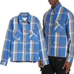 19SS 플란넬 체크 셔츠 블루 OMGA060S19D21021 3000
