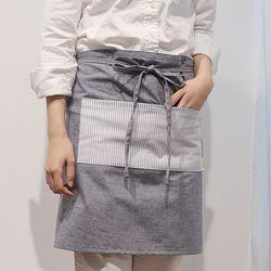 유노야 이지선염 허리 앞치마 (2컬러)