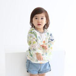아동 비치점퍼 그린공룡 메쉬 바람막이 봄 여름 유아