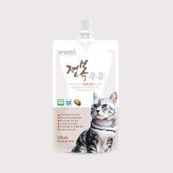 논다 고양이 전복 우유 100ml