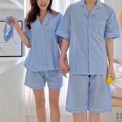 Gingham Pajama Set - 커플룩헤어밴드포함