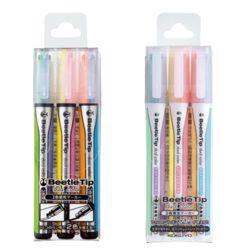 코쿠요 비틀팁 2색 형광펜 3색세트 (일반/소프트컬러)