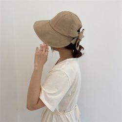 리본 내츄럴햇 여성 벙거지 모자 버킷햇