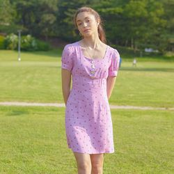 BUTTON POINT MINI ONEPIECE(PINK)