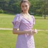 DAISY LACE PUFF SLEEVES ONEPIECE(VIOLET PINK)