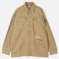 UNI 박스핏 셔츠형 트러커 자켓 IBJK20S03