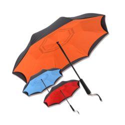 거꾸로 접이식 반자동 우산 투톤 4컬러 튼튼한 장우산