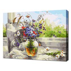 [명화그리기]4050 기분 좋은 날 창가 풍경 28색 정물화