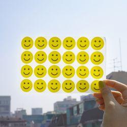 귀여운 옐로우 스마일 스티커