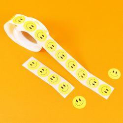 귀여운 옐로우 스마일 롤 스티커