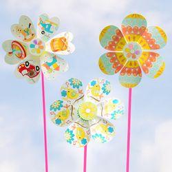 꽃 바람개비만들기 재료