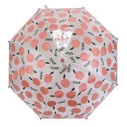 BT 피치 투명 아동 우산