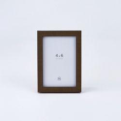 패브릭터치 기본액자 모카브라운 4*6