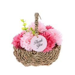 미니 카네이션 비누꽃 바구니 핑크 감동