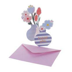 BT 감사 꽃 가득 카드