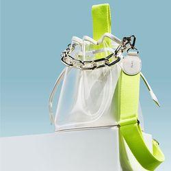 캔디백 네온옐로 체인세트 candy bag neon yellow chain set
