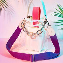 캔디백 네온핑크 체인세트 candy bag neon pink chain set
