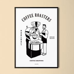 로스터리 카페 M 유니크 인테리어 디자인 포스터 A3(중형)