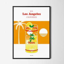 말리부 레모네이드 M 유니크 인테리어 디자인 포스터 A3(중형)