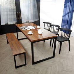 디센루카 멀바우 1800 헤이바우 벤치형 6인용 식탁세트