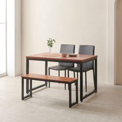 디센루카 멀바우 1200 올리에 벤치형 4인용 식탁세트