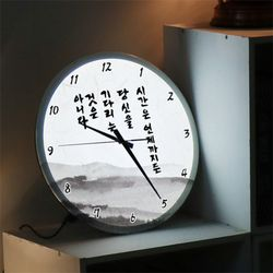ng215-LED시계액자35R시간명언