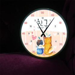 ng197-LED시계액자35R아기와나우린친구