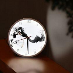 nf291-LED시계액자25R우리전통문화탈춤