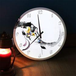 nf292-LED시계액자35R우리전통문화탈춤