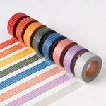 컬러 체크 마스킹 테이프(15mm)