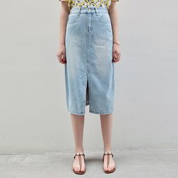 TULIP DENIM LONG SKT [LIGHT DENIM]