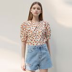 BERRY PUFF COLLAR BL [ORANGE]