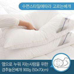 마이크로화이바 경추베개 50x70(900g옆으로)