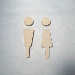 다니우드 우드 화장실 도어사인 (자작나무)