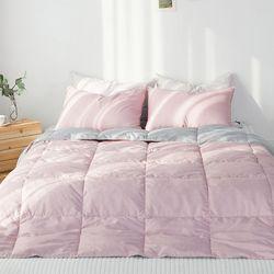 주호데코 구스 사계절 차렵이불세트 퀸Q 핑크(이불1+베개커버2)