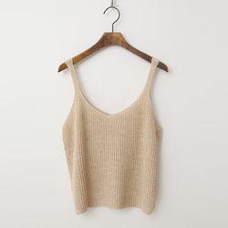 Sleeveless Crop Knit