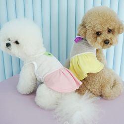 유아러피치 피치올인원 치마 강아지옷 애견의류
