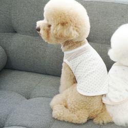 유아러피치 땡땡이 홈웨어 강아지옷 애견의류