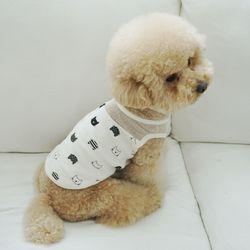 유아러피치 고양이패턴 홈웨어 강아지옷 애견의류