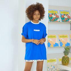 트라이앵글 배색 반팔 티셔츠