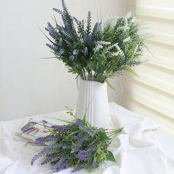 라벤다꽃 믹스 조화 부쉬(3color)
