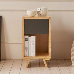 비에스디자인 포코 높은 서랍형 원목협탁(그레이)