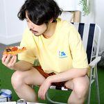 LA 웨이브 반팔티셔츠-레몬 옐로우