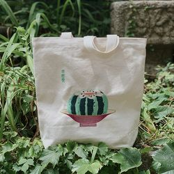 수박 자수 가방 - watermelon embroidery bag