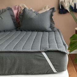 여름 시어서커 누빔 고정밴딩 침대패드(SS) - 3color