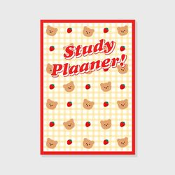 Dot strawberry check-ivory(study planner)