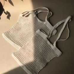MAMA 코튼 네트백 S - handmade cotton net bag