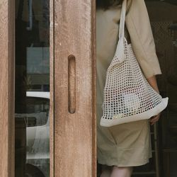 MAMA 코튼 네트백 L - handmade cotton net bag