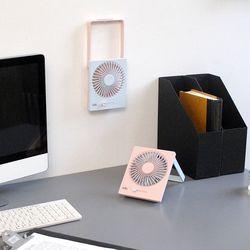 폴딩 네모팬 무선 미니 선풍기 탁상용벽걸이 겸용 DKB-101